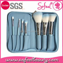 Sofeel Professional Cosmetic Accessories 7pcs makeup brush set with Bag