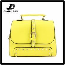 Yiwu bag 2015 fashion PU leather rivet tote bag hand bag