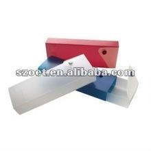 Personalizado plástico impresso deslizante estojo de lápis, caixas de presente lápis
