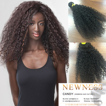 Good quality unprocessed virgin peruvian brazilian afro kinky bulk human hair wholesale