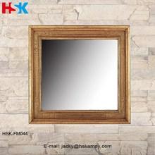 Square espejo tallado con agraciada Floriations