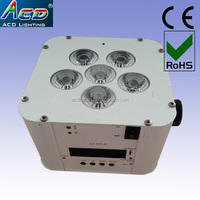 6*6in1 RGBWAUV battery wireless led light for stage decor,night club equipment,led mini par light