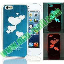 Heart Shaped LED Light Flash Cases for iPhone 5 & 5S