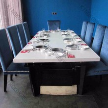 Customized 12 seater dining table restaurant dining table