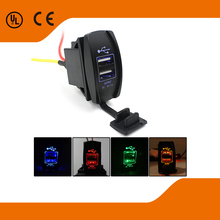 2015 NEW 12-24V Car Dual USB Port Adapter Charger Cell Phone Used For Car