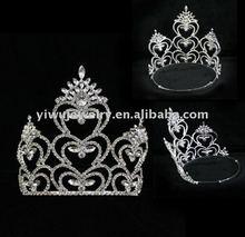 joyería nupcial rhinestone concurso complementos para la cabeza grande accesoriosparaelcabello corona de la moda
