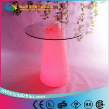 hot sale brighting party favor colorful cheap bar table,led furniture sets,led dinning table