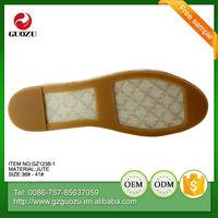 women flat good quality sandal hemp rope pvc outsole