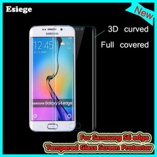 Newest!!! factory OEM ODM mobile phone accessories curved Tempered Glass screen protector for Samsung galaxy s6 edge