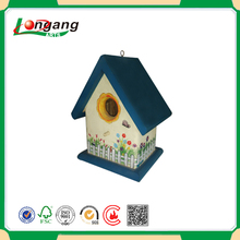 Wholesale printing hanging bird house /decorative wooden rings crafts