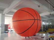 huge pretty inflatable basketball model/inflatable models for decoration or event