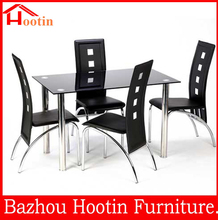 high quality modern rectangular glass top dining tables