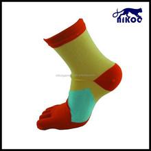 colored heel and toe socks
