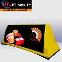 Taxi company 12v voltage car top led billboards for sale
