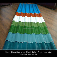 corrugated colored steel sheets/prepainted metal roof /roofing tile stainless steel manufacture
