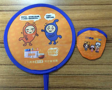 Promotion pattern customized round folding fan for gift