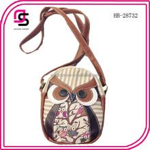 Stock Cute Owl Crossbody Bag for Ladies