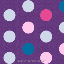 100% polyester dot design printed & dyed fabric