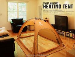 Korean Design Heating Warm Camping 3 person  steel frame yurt tent
