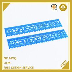 Promote square shape 15cm plastic ruler cheap made in guangzhou