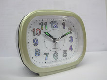 Blue Bell Beep SWEEP Square Quartz Alarm Clock for elderly
