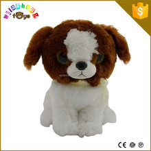 2015 18 cm baby toys small stuffed dogs with big eyes and wholesale soft stuffed animals puppy plush toys for kids