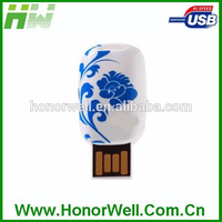 Hot Sale Free Sample blue and white porcelain usb flash drive for Promotional Gift