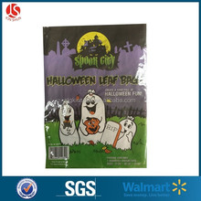 large halloween decoration leaf trash bags with skeleton and crow