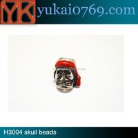 Yukai paracord metal skull beads