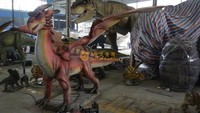 Outdoor exhibition animatronic fire dragon