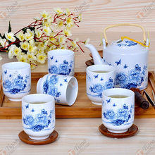 TG-405W231-W-10 pottery tea set with CE certificate special gift