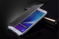 Luxury Clear View Mirror Smart Case For Samsung Galaxy Note 5 N9200 Leather PC Flip Cover Phone Case Capa Hard shell