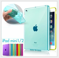 Top Quality Smooth TPU Soft Transparent Laptop Case Cover Skin Protector for Apple iPad Mini 1 2 3 Luxury Tablet Bags