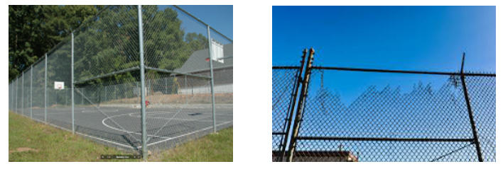 Strength of the chain link fence.jpg