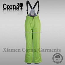 Outdoor sport warm-keeping windproof green women rompers plus size ski pants