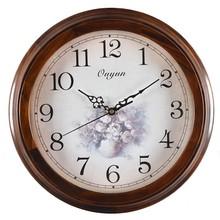 Wall Clock Wood 2015 New Decorative Fashion Wall Clock gold watch
