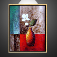 Remarkable hot selling palette knife flower oil painting (ct-85)