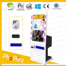 42 indoor/outdoor open frame lcd media advertising player/Business Advertising photo printer kiosk/coin operated photo printer