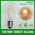 E26 y B22 base A60 LED bombillas de filamentos