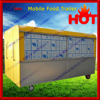 Mobile house type food cooking cart