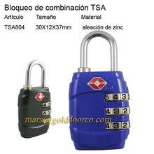 Dígitos 3 bloqueo de combinación tsa TSA804