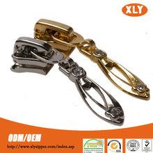 Zipper factory high quality custom metal gold zipper slider retail or wholesale