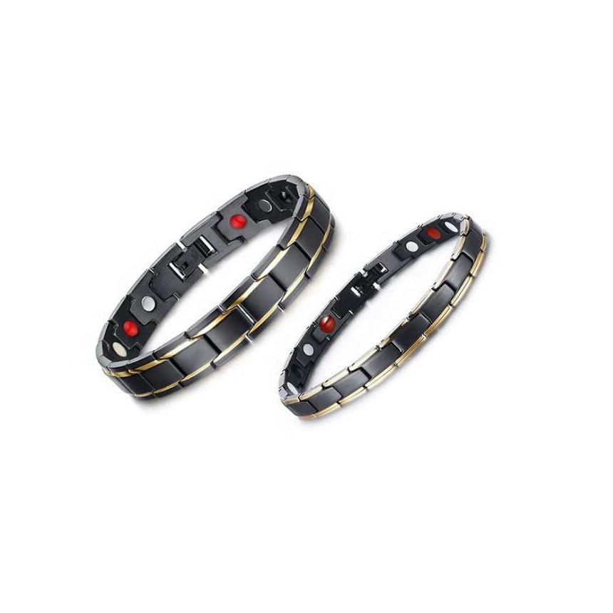 Loftily de la Nueva joyería de moda romántico Material de titanio par imán pulsera para hombres y mujeres