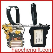 Portative silicone pvc bag tags for promotional activity