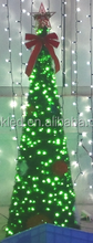 1-3M 110V/50HZ IP65 green, white and red led string lights cone shape LED christmas tree with christmas grass and top stars