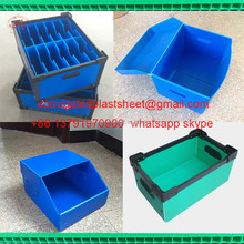 pp divided plastic storage boxes