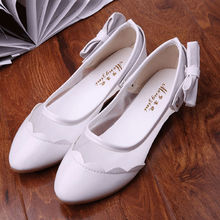 cheap wholesale shoes in china 2014 new style causal bowknot flat heel women shoes shiny