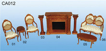 dolls house solid wood carving antique showroom sets miniature furniture