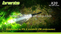 Bronte X20 2013 hot sale 800 lumens tactical hunting lights hunting lights with scope