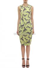 new design wholesale european style short sleeve silk print casual new model girl dress